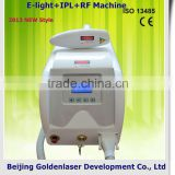 2013 New style E-light+IPL+RF machine www.golden-laser.org/ hair removal rollon wax cartridge heater waxing