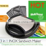 multifunctional grill waffle sandwich maker with A13, EK1 under GS