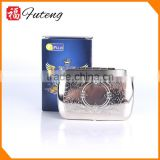 Smoking accessory cigarette display case cigarette storage bocase metal tobacco box