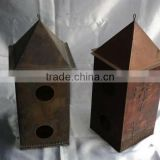 Antique Bird House,Bird Houses,Metal Bird House,Iron Bird House,Decorative Bird House,Hanging Bird House