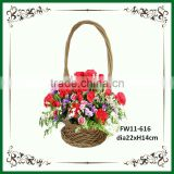 Honey willow miniature flower basket