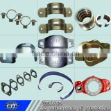 Pipe clamp used for pipeline valve, metal casting,ductile iron pipe fittings,cnc machining parts
