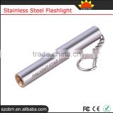 D3 Q5 Led 150LM AAA Battery Stainless Steel Flashlight Mini Light Pen Torch With Gift Box