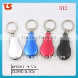 2014 Promotion Mini multi aluminium oxide LED metail gift pocket keychain knife tools B19