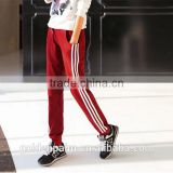 100% cotton high quality brand women side stripes sweatpants sports pants wholesale China