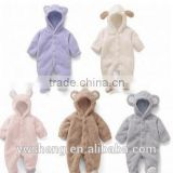 Wholesale Toddler Baby soft Clothing Long Sleeve plain Organic Cotton Baby Rompers For OEM