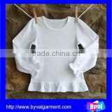 Wholesale White Plain Comfortable child clothing Custom Top Quality Child Long Sleeve T-shirt