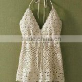 Beautiful nice girls crochet bikini top
