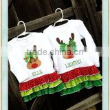 Rudolph Ruffle Shirt/Tunic Baby girls Tee Top Applique unique baby girl names images Customized Girls Christmas Clothing