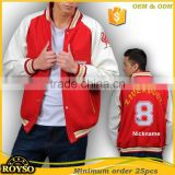 Customize Custom Made Man American Baseball Bomber Cheap Varsity College Wholesale Team Football Fashion School Uniforms Jackets