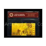 EURO 10 Gold Foil Banknotes 24k Gold With PVC Holder And COA Certificate