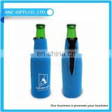 high quality cheap promotional gift colorful 195*65mm customized neoprene beer bottle cooler
