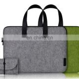 High quality wool felt bag for laptop