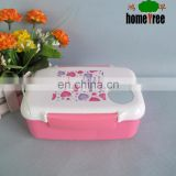 Little Girl Rectangle Bento Thermos School Lunch Box With Dividers Spoon
