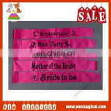2016 Hot Pink Party Bride to Be Sash HP6199