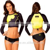 Custom Printed Rash Guard Crop Top Design Your Own Surf Rash Guard