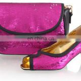 Fushia pink color wholesale shoes lady fashion