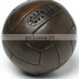 Old School Soccer Ball made of genuine leather with custom screen printing and embossing