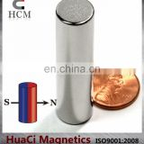 "N42 Cylindrical Neodymium Magnet Dia 1/2""X2"" Diametrically Magnetized"
