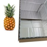 New design aluminum foil bubble corrugated insulated carton thermal box frozen food packaging boxes delivery