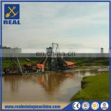 Commercial 80m3 per hour high efficient Bucket chain gold dredge for sale
