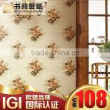 European-style garden flower classic green living room sofa cozy bedroom TV wall backdrop -3d wall paper designer wallpaper