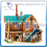 Mini Qute 3D Wooden Puzzle American Workshop architecture famous building Adult kids model educational toy gift NO.F139
