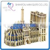 Mini Qute 3D Wooden Puzzle Notre-Dame de Paris world architecture famous building Adult kids model educational toy gift NO.MJ404