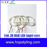 China Factory LED car head light for E46 Cabrio RGB Angel Eyes for E46 Coupe 2D(04+) led head light