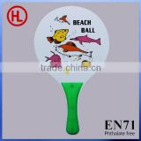 custom logo Hot Sale High QUALITY promotional outdoor game Wooden Beach Tennis Racket /beach bat with beach ball set wholesale