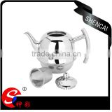1.0L stainless steel bell-shaped teapot with tea strainer/ boiling tea kettle
