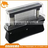 White/Black Manual Meat Tenderizer with 48pcs Stainless Steel Blades Non-slip Plastic Handle Cut Meat Easier Kitchen Tool