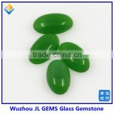 New fashion oval cabochon cut glass gemstone with green jewelry making glass stone