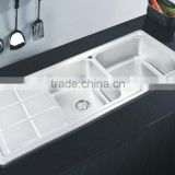 1200*500mm XAL12050N depth 20cm 304 material double bowl welding economic item kitchen sink stainless steel sink