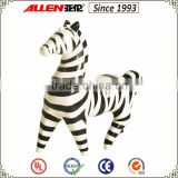 "9.5"" home ceramic animal figurine for tabletop , ceramic zebra statue"