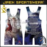 Cheap Full Sublimation 100% polyester Wrestling Singlets for sale custom wrestling singlets