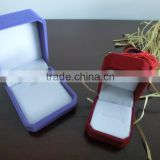 high quality custom handmade feature jewelry box set velvet red color velvet jewelry box wedding gift box