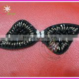 Beaded applique for headbands