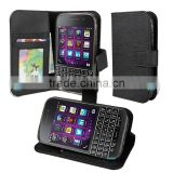 china manufacturer pu leather case for blackberry q20 classic wholesale