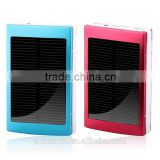 Best sale portable S002 Solar power bank with LED flashlight Travel Charger ultra gifts power bank