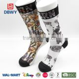 2015 Fashion Knee High Wholesale Design Sublimation Printing Sock with OEM Service!