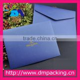 hign quality blue color paper wedding invitation envelope