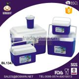 large middle mini plastic cooler box set and water jug