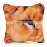 Buy lion eyes decor leather throw pillow cover with insert 30cm                                                                                                         Supplier's Choice