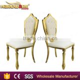 cheap high back king chair wedding , golden high back king chair