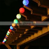 mulit color option 12 inch Solar LED Chinese Paper Lantern Light mas Wedding Party Outdoor Garden Lamp Decor