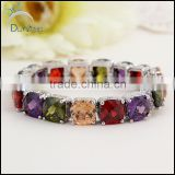 AAA Quality Zircon Bracelet For Women 18k rose gold plated multicolor