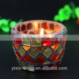 small mosaic container beautiful mosaic cracked glass candle holder                                                                                                         Supplier's Choice