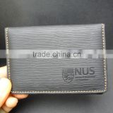 embossed logo imitation leather briefcase business card holder