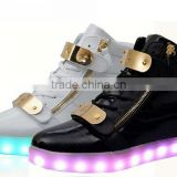 Fashion adult led sneakers light shoes 7 colors changeable                                                                                                         Supplier's Choice